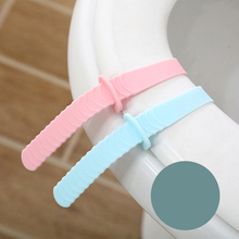 Foldable Toilet Seat Lifters Silicone Handle Portable Toilet Seat Cover Lifter Toilet Potty Ring Handle Bathroom Accessories round bathroom adult toilet seat with built in child potty training seat elongated white toilet seat cover bathroom accessories