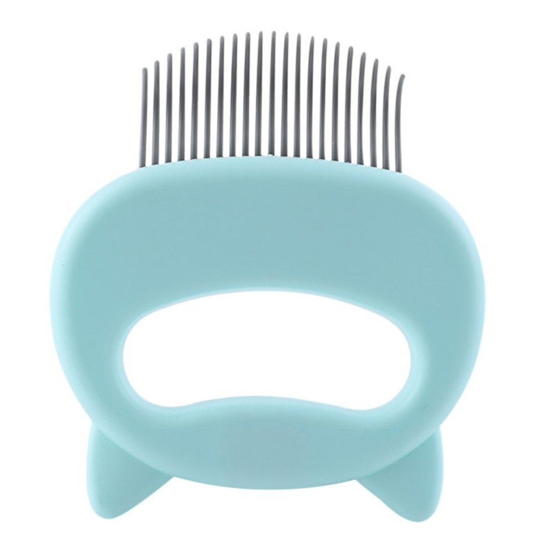 Cat Grooming Massage Brush with Shell Shaped Handle to Repair Withered and Yellow Hair of Cat 11