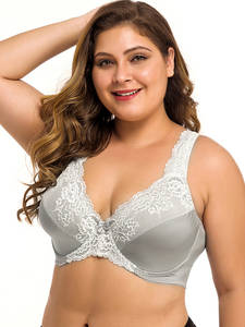 Lace Bra Bosom Bralette Sexy Lager Underwired Plus-Size Womens Lingerie 44 54 50 52 DDD
