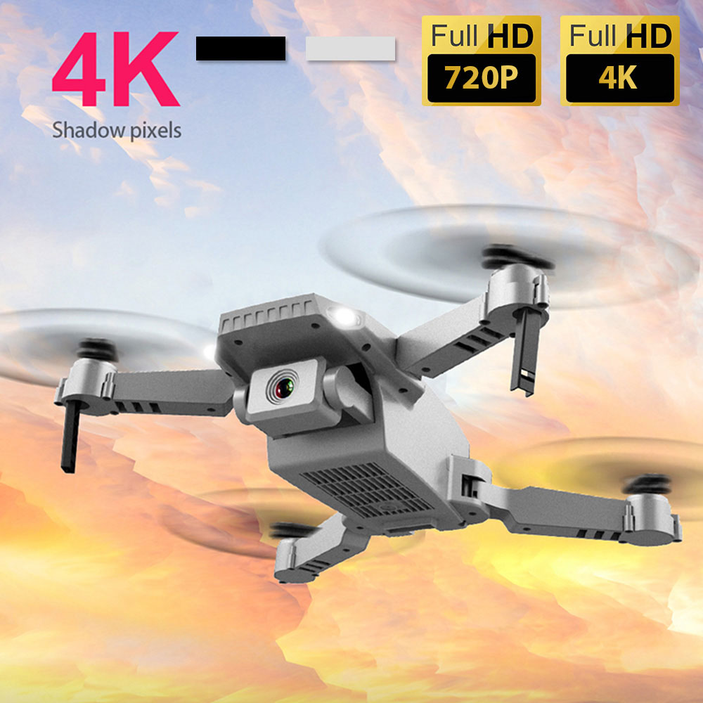 LED light WIFI FPV Drone With Wide Angle 720P 4K HD Dual Camera Hight Hold Mode Foldable Arm RC Quadcopter Drone Boy Toy Gift