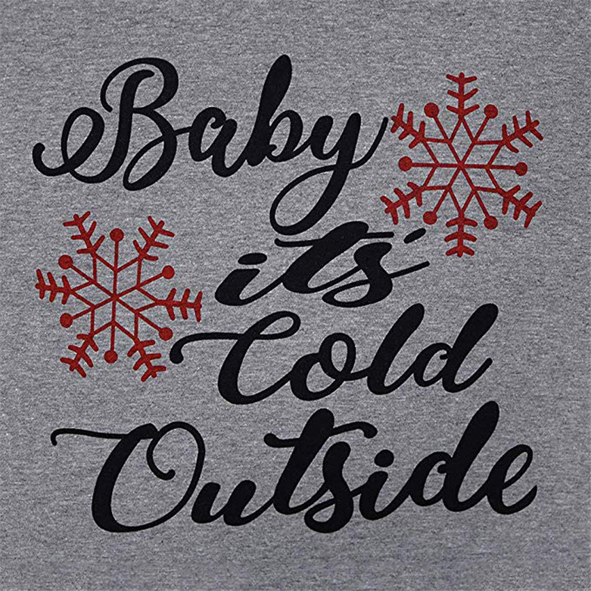 Quot Baby It S Cold Outside Quot Winter O Neck Women Christmas Tee