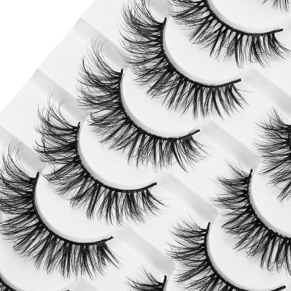 LEKGAVD 8 Pairs 3D Nerz Falsche Wimpern Natürliche Wispy Flauschigen Dramatische Volumen Gefälschte Wimpern Verlängerung Handgemachte Cruelty-freies Wimpern