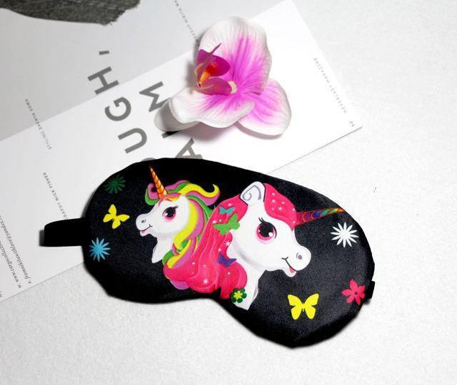 Sleeping Mask Cute Unicorn Cartoon Eye Cover Cotton Eye Patch Sleep Mask Girl Kids Silk Travel Rest Eye Band Blindfold Sleep Aid 1