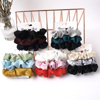 1 Set Scrunchies Hair Ring Candy Color Hair Ties Rope Autumn Winter Women Ponytail Girls Hair Accessories 3-6Pcs Hairbands Gifts image