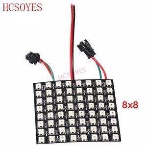 Image 4 - Module de panneau WS2812b Led, 8x8/8x3 2/16x16 Pixels, individuellement adressable, écran polychrome LED dissipateur thermique, affichage numérique Boa