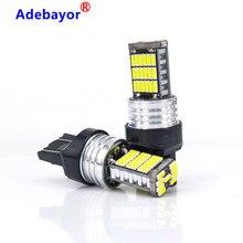 Super brillante 20x T20 7443 W21/5W 7440 W21W 45 SMD 4014 LED de freno para automóvil Luz de niebla de la lámpara de coche luz diurna blanco 12V