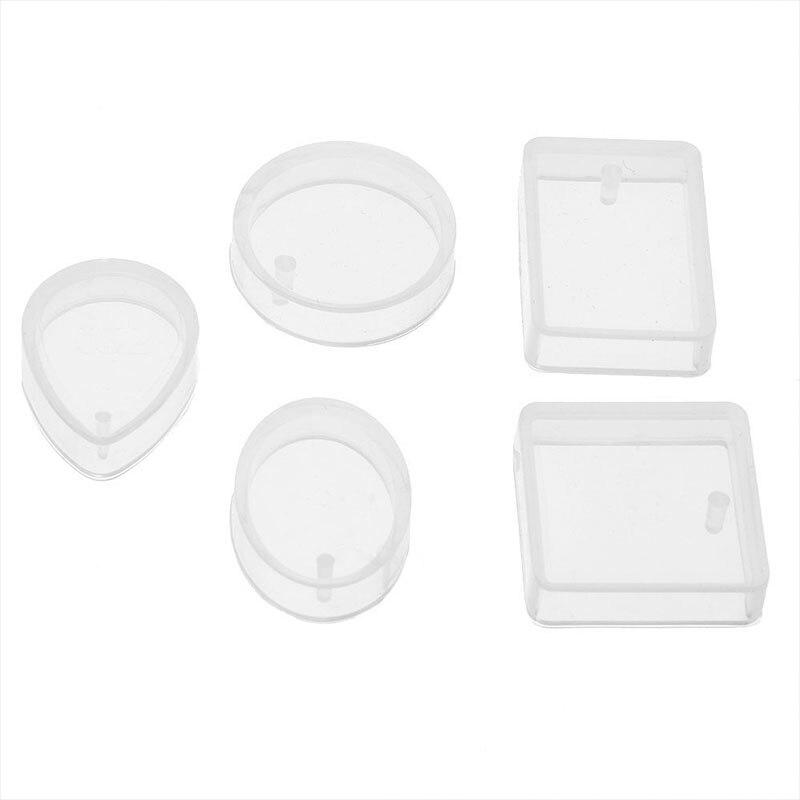 Прессформы ювелирные изделия изготовление пресс-форм ожерелье силикон 5 шт. капли воды DIY набор ремесло инструмент литье