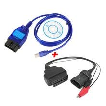 3Pin OBD2 16Pin Kabel Plus VAG USB Ecu Scan Kabel Adapter Diagnose Interface Tool für Fiat Auto Ecu Programmer Adapter vagCom