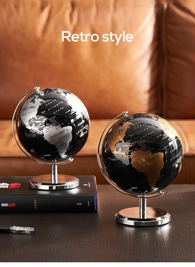Retro Automatische Rotatie Glow Wereldbol Constellation Map Globe Voor Thuis Tafel Ornamenten Office Home Decoratie Accessoires Figurines Miniatures Aliexpress