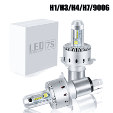 7S Car LED Headlight Bulb H4 H7 H8 H11 9005 9006 LED Bulb XHP-50 40W 8000LM Car Styling High Power White 6500K DC12-24V honsco h7 24w 1800lm 5000k white light led high power car headlight kit dc12 18v 2 pcs
