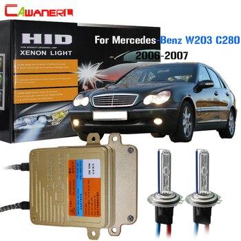 Cawanerl 55W HID Xenon Kit No Error Ballast Bulb AC 3000K-8000K Car Headlight Low Beam For 2006-2007 Mercedes Benz W203 C280