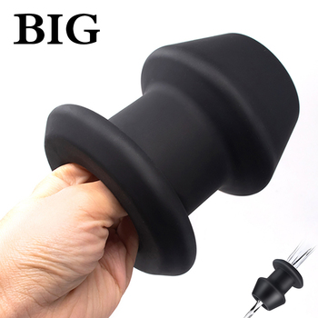 Silicone Anal Sex Toys Hollow Anal Plug Enema Prostate Massager Butt Plug Anal Enlarger Adult Sex Products for Man and Woman Gay male penis dildo insert design anal plug sex toys for men woman gay anal sex hollow butt plug adult masturbation sex products