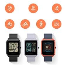 цены Xiaomi Huami Amazfit Bip Smart Watch GPS Smartwatch Android iOS Heart Rate Monitor 45 Days Battery Life IP68 Always-on Display