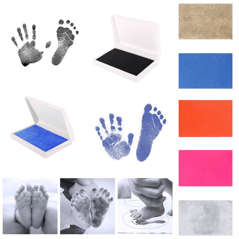 Newborn Baby Handprint Footprint Inkless Non-Toxic Touch Ink Pad DIY Photo Frame Girls/Boys Infant Baby Gift Decoration