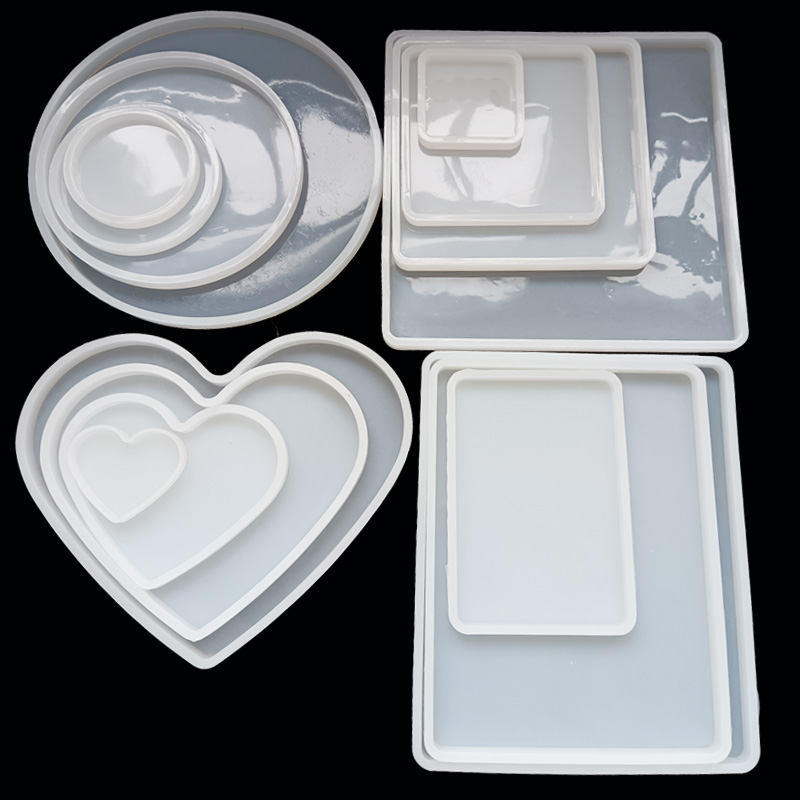 Various of Sizes Silicone Coaster Cup Tray Oval Square Round  Artst Round Petri Dish Epoxy Resin Molds