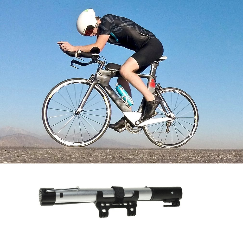 Outdoor Sports Cycling Bike Bicycle Hand pressure Inflator Tire Pump Blue