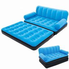 Camas infláveis portáteis de veludo macio sofás quentes móveis do quarto camas com bomba de ar ao ar livre camas de acampamento sofá beanbag cadeira