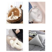 Cat accessories pet nest 5cm imitation rabbit hair tease cat toy cat belt pet accessories