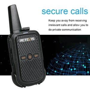 Image 3 - Retevis RT15 Mini Walkie Talkie 2 sztuk przenośny dwukierunkowy stacji radiowej UHF VOX USB do ładowania Transceiver komunikator walkie talkie