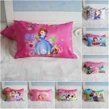 Disney Cartoon Sophia Princess Kids Pillowcases Baby Boys Girls Gift Decoration 3D Pillow Cover Pair 48x74CM on Bed