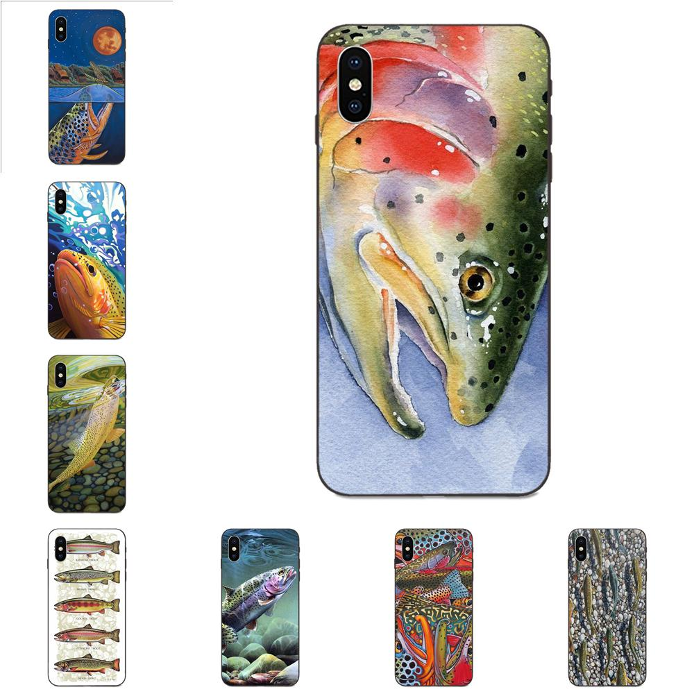 TPU Popular Hot Five Trout Panel Painting Fish For Galaxy A3 A5 A6 A6s A7 A8 A9 A10 A20E A30 A40 A50 A60 A70 A80 A90 Plus 2018