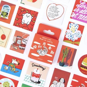 46 pcs/box Blush for puberty  Decorative Stationery mini Stickers set Scrapbooking DIY Diary Album Stick Lable - discount item  18% OFF Stationery Sticker