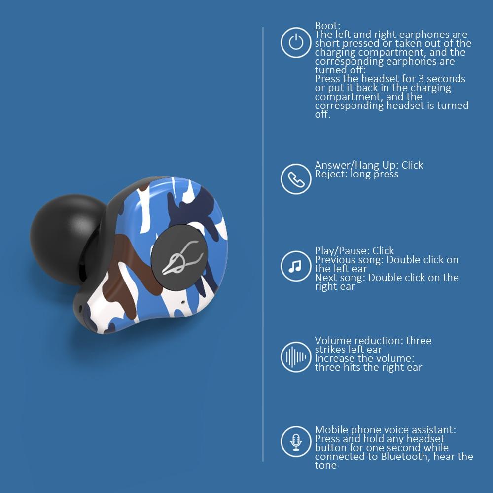 Esportes Sem Fio Bluetooth Fone de Ouvido com Caixa de Carga