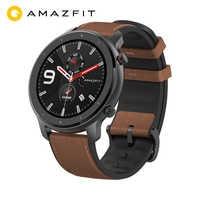 """Globalna wersja AMAZFIT GTR 47mm inteligentny zegarek 5ATM wodoodporny zegarek 1.39 """"AMOLED GPS + GLONASS Smartwatch mężczyźni 24 dni żywotność baterii"""