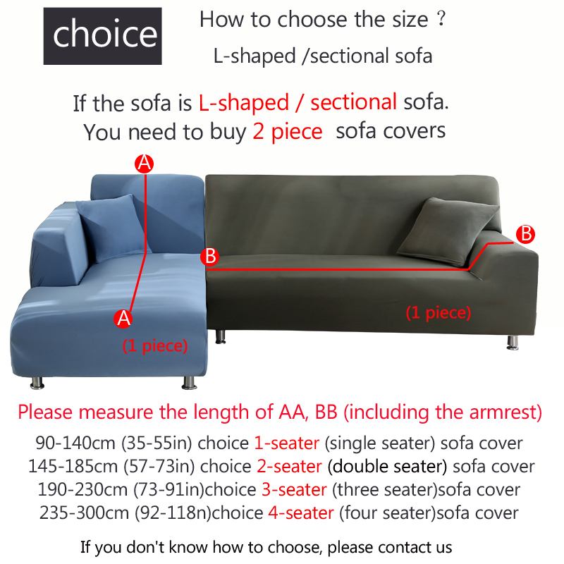 ╧Closeout DealsSofa-Covers Need Corner Stretch Spandex Living-Room Elastic L-Shape Solid-Color 2piece