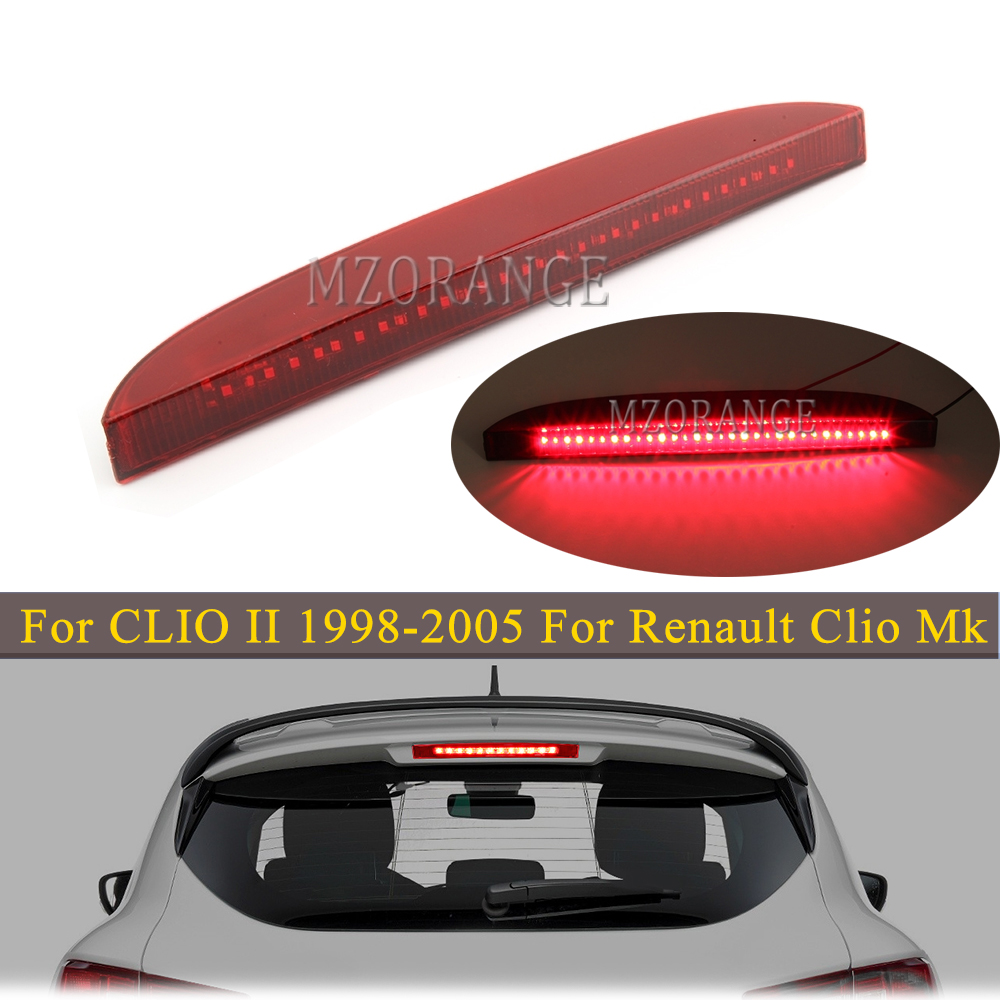 For CLIO II 1998-2005 For Renault Clio Mk III Red/Black LED 3rd Third Brake Light Tail Stop Lamp turn signal lights Bumper Light