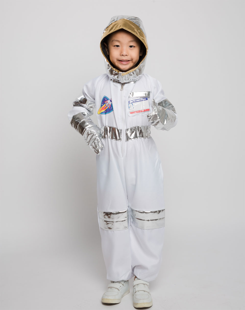 Noucher U Costume Anime Game Jumpsuit Astronaut Space Costume Cosplay Multicolor Bodysuit Set Role Play for Kids Children