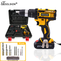 21V 1.5Ah Impact Drill Rechargeable Screwdriver Electric Tools Battery Impact Screwdriver Drill Impact+Power Tool Accessories