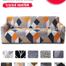 Plaid Sofa Slipcover Funda Stretch Elastic Living-Room Home-Decor Coolazy for 1/2/3/4-seater