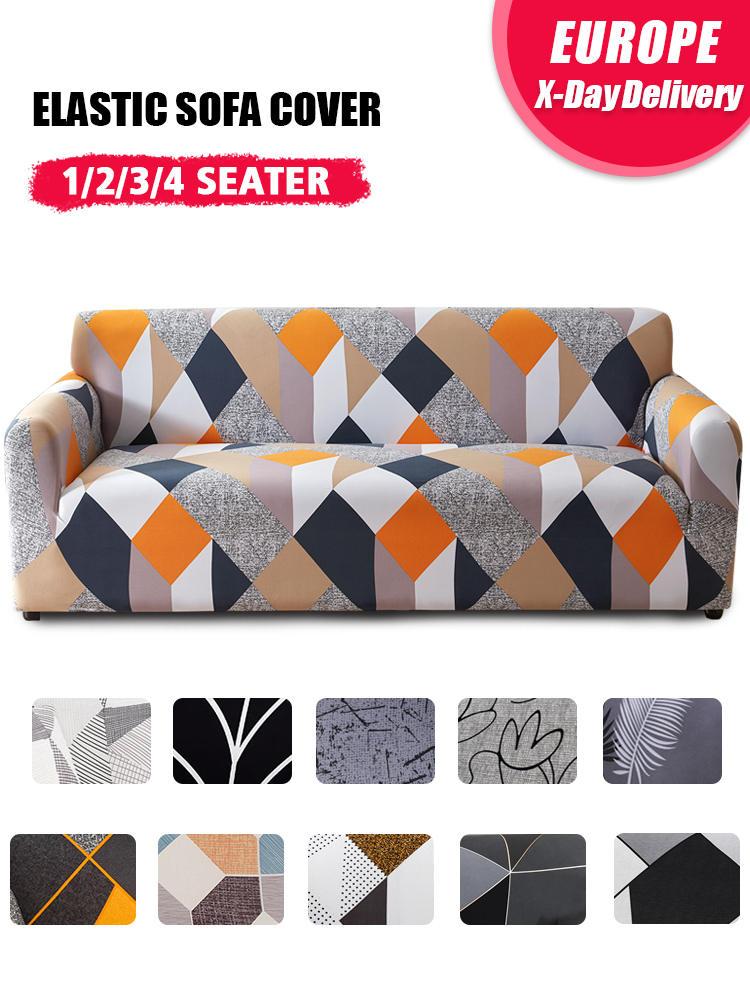 Plaid Sofa Slipcover Funda Stretch Elastic Living-Room Home-Decor Coolazy for 1/2/3/4-seater