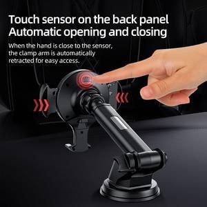 Image 4 - HOCO cargador inalámbrico rápido Qi para coche, soporte de teléfono con sensor infrarrojo automático, para iPhone XS Max X XR, Samsung Note 9 S9 S8