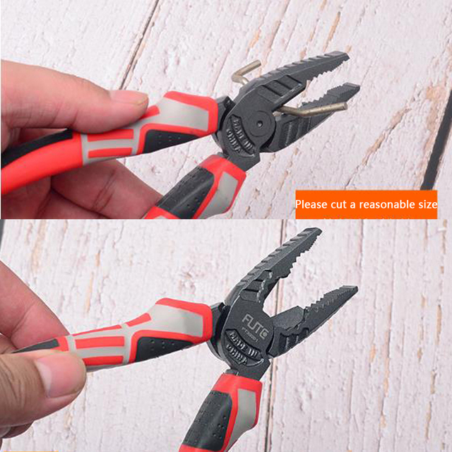 FGHGF Professional Superhard Alloy Forceps Wire Stripper Cutting Cable Cutter Diagonal Long Nose Nippers Electric Hand Tools 4