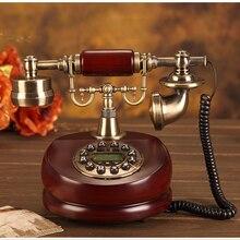 Teléfono antiguo con cable, resina Fija Digital Retro botón Dial Vintage teléfonos decorativos teléfono fijo para la oficina en casa