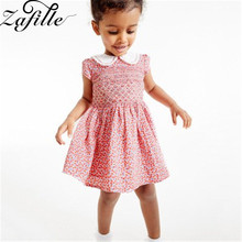 ZAFILLE Baby Girls Clothes Short Sleeve Toddler Summer Dress 2020 New Casual Infant Kids Baby Girl Dress Printed Girls Clothing zafille summer dress girl short sleeve baby girl clothes dot printed girls dress toddler infant baby clothing kids cute dresses