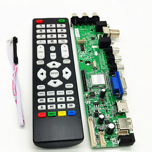 "DS.D3663LUA.A81 DVB-T2 DVB-T DVB-C digital TV LCD/LED driver board V56 V59 10-42"" Universal LCD TV Controller Driver Board 3663(China)"