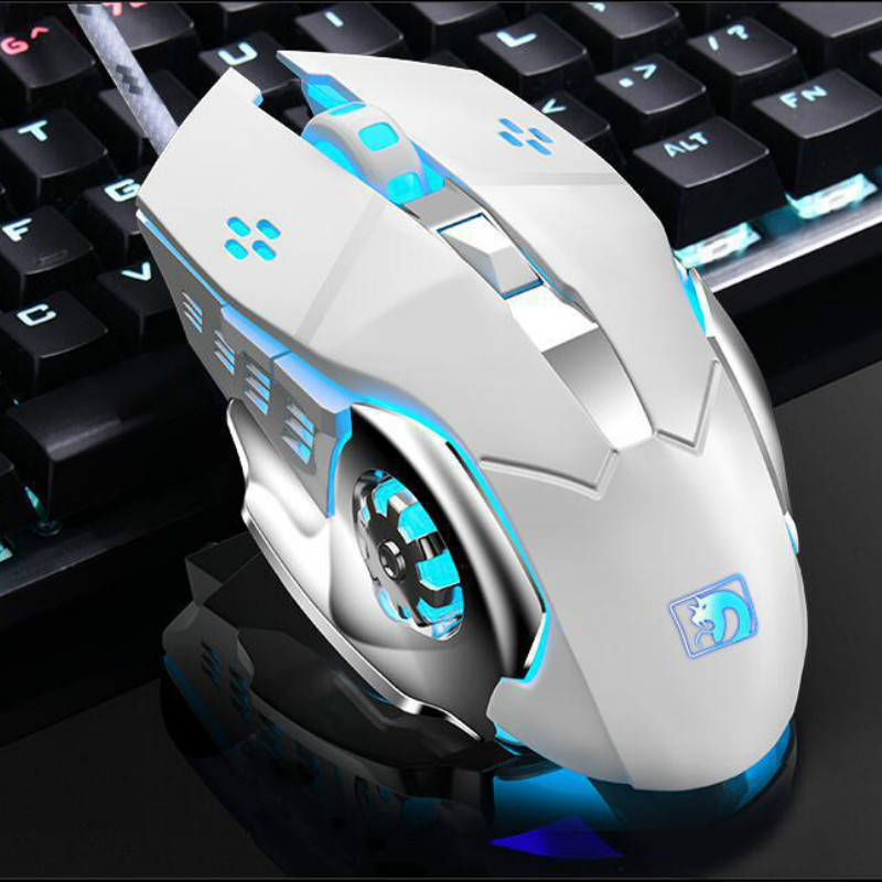 2500 DPI  Professional Wired Gaming Mouse Breathing Backlight LED Optical USB Computer Mouse Mute Mechanical Mouse For PC Laptop