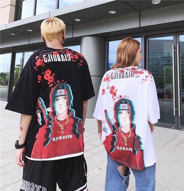 Anime Naruto Adult Short Sleeve T-Shirt Men Women Couple Youth Casual Fashion Tee Hip Hop Shirt Street Dress Top