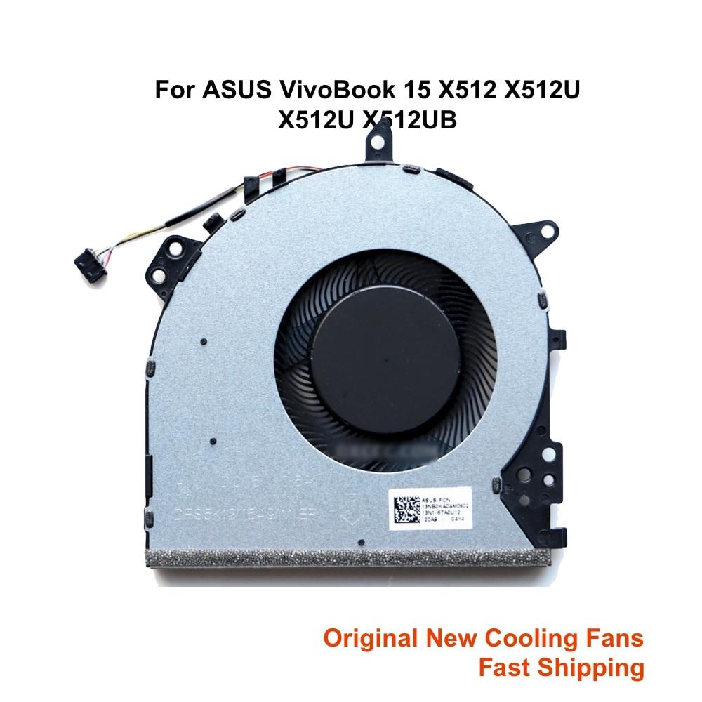 Компьютер Процессор Охлаждающие вентиляторы для ASUS VivoBook 15 X512 F512 X512U X512DA X512UF 13N1-6TA0U12 6TA0U11 ноутбук вентилятор кулер новый