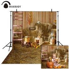 Allenjoy automne photographie toile de fond foin foin ferme grange récolte merci donner fond photo studio photocall photophone
