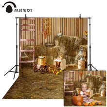 Allenjoy autumn photography backdrop Haystack hay farm barn Harvest Thanks Giving background photo studio photocall photophone