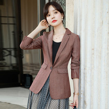 Temperament Slim Womens Suit Casual double pocket long sleeve female blazer Autumn business professional suit high quality 2019