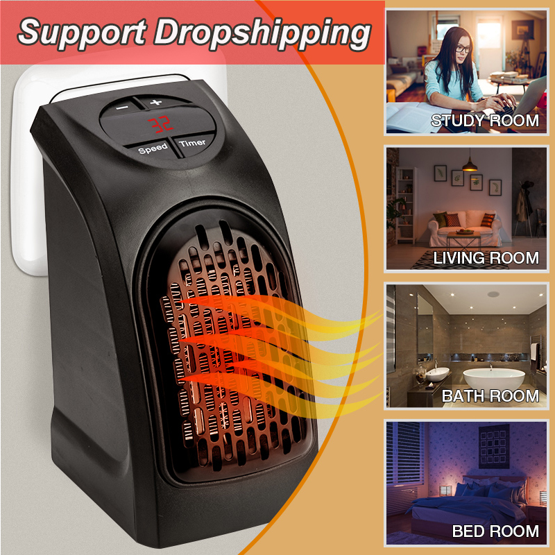 Portable Mini Electric Home Handy Air Heater Warm Blower Room Fan Stove Hand Warmer Wall Heater Electric Heater Radiator Warmer(China)