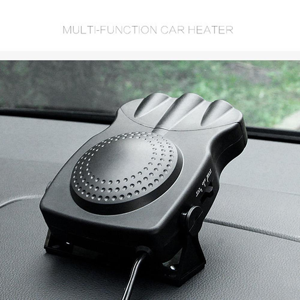 2 In 1 12V/24V 150W Auto Car Heater Portable Car Heater Heating Fan With Swing-out Handle Cooling Fan 3-Outlet Defrosts Defogger