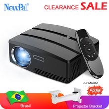 Mini projektör ev sineması projektörü Android Wifi Beamer 3D HD LED projektör HDMI USB VGA AV liman açıklığı Video TV