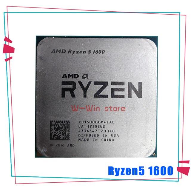 AMD Ryzen 5 1600 R5 1600 R5 PRO 1600 3.2 GHz Six Core Twelve Thread 65W CPU Processor YD1600BBM6IAE YD160BBBM6IAE Socket AM4