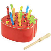 3D Montessori jouets en bois chenille mange la pomme enfants attraper des vers correspondant jeux de Puzzle éducation précoce interactif jouet mathématique